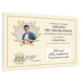 Diploma personalizado con una foto