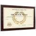 Diploma personalizado sobre soporte madera beis