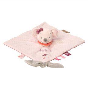 Peluche Raquel, la ratona rosa, personalizada