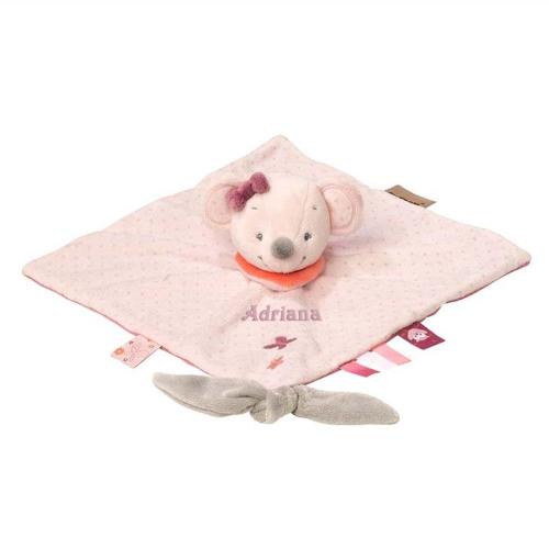 Doudou Raquel el ratón rosa personalizado