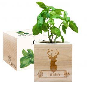 EcoCubo personalizado de madera Venado