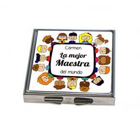 Espejo de bolsillo personalizado Gracias Maestra