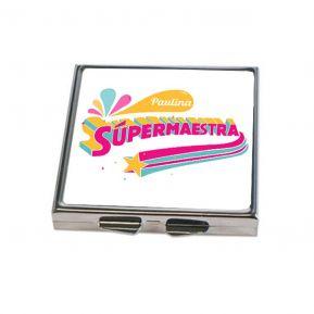 Espejo de bolsillo personalizado Súper Maestra