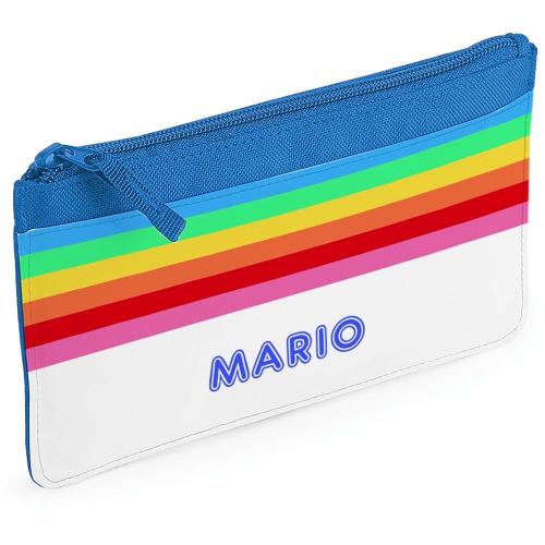 Estuche escolar rainbow azul