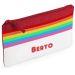 Estuche escolar rainbow rojo