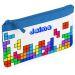 Estuche escolar tetris azul