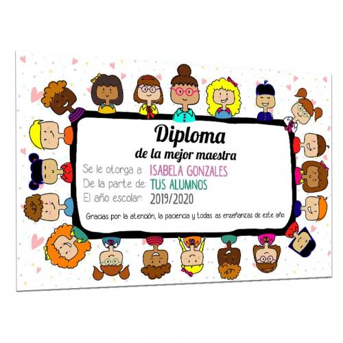 Diploma de la mejor maestra