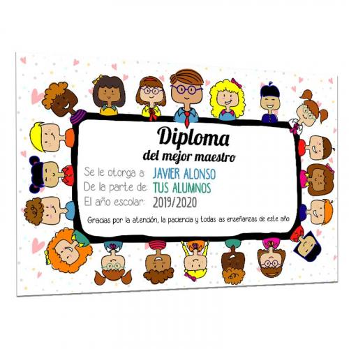 Diploma del mejor maestro
