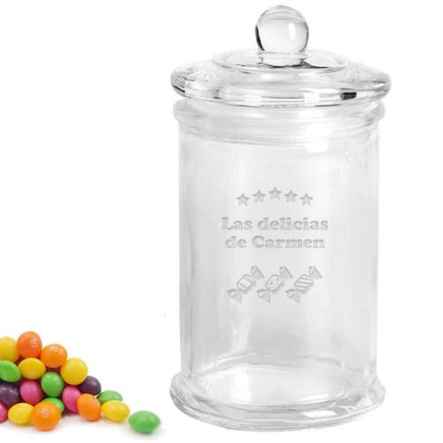 Frasco de dulces personalizado estrellas