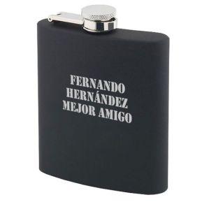 Petaca negro personalizado