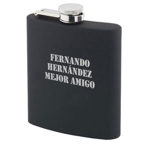 Frasco negro personalizado