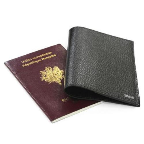 funda pasaporte en cuero personalizada
