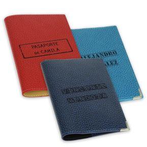 Funda de pasaporte personalizada sello