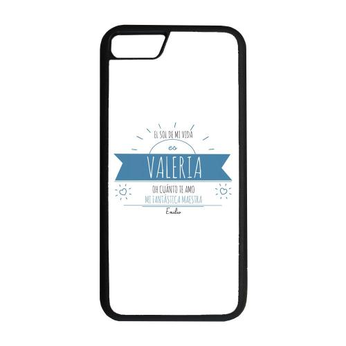 Funda personalizada para smartphone con mensaje soleado azul
