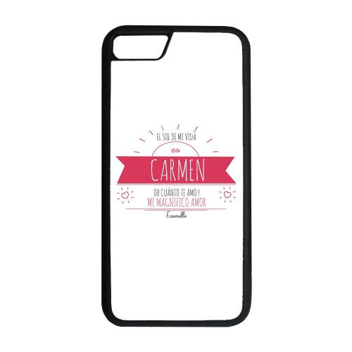 Funda personalizada para smartphone con mensaje soleado rojo
