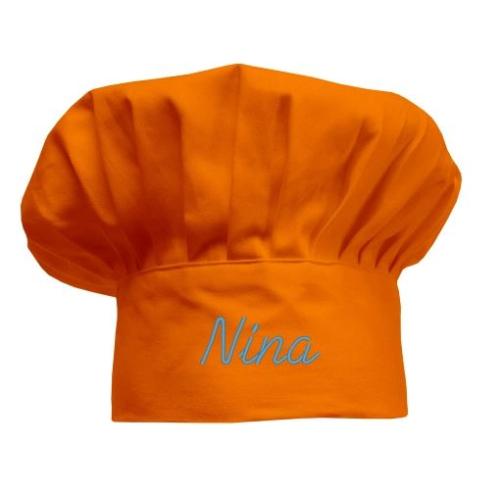 Gorro de cocinero Naranja para niños