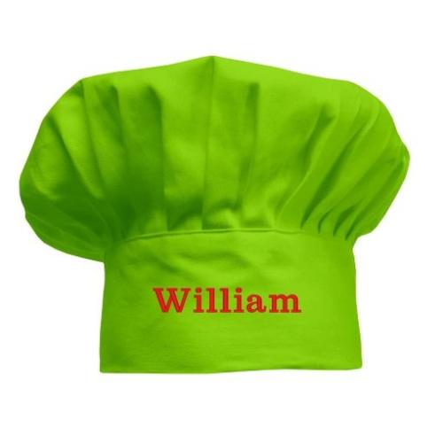 Gorro infantil de cocinero Verde