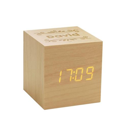 despertador de madera