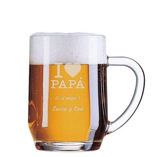 Jarra de cerveza grabada de papá