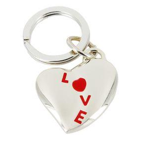 Llavero corazón Love rojo