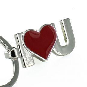 Llavero I love U red