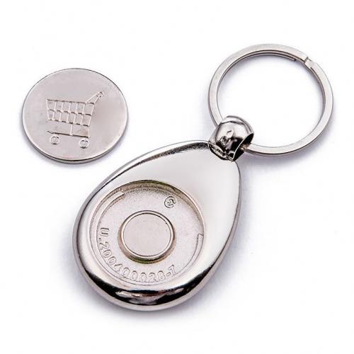Llavero moneda para carro con foto grabada