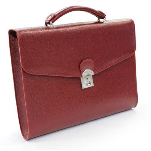 maletín en cuero con 1 compartimiento nombre