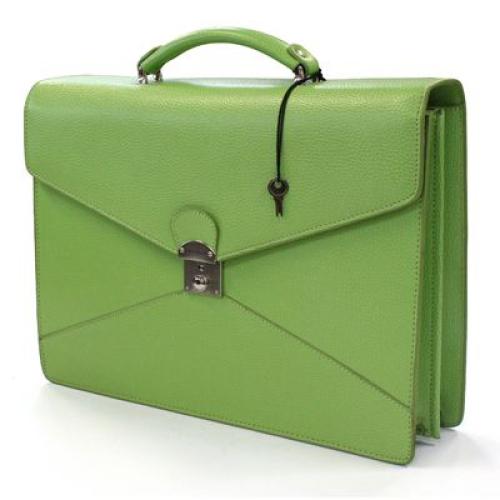 maletín en cuero con 2 compartimientos personalizado