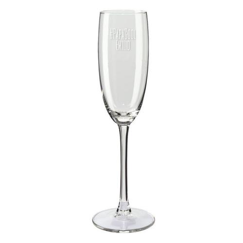 Copas de champaña mamá y papá cool