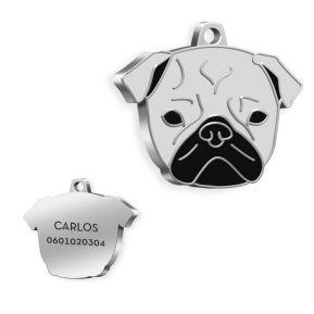Medalla personalizada de Pug