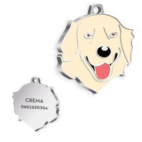 Medalla Golden Retriever grabada