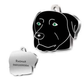 Medalla grabada Labrador