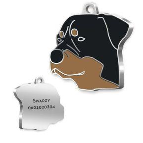 Medalla Rottweiler grabada