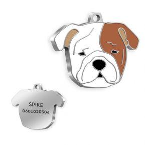 Medalla de Bulldog grabada