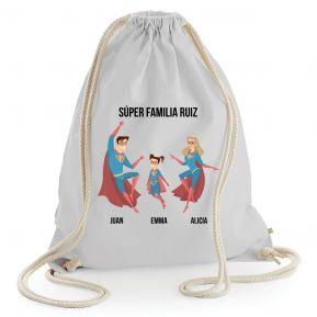 Mochila de algodón personalizada superhéroe