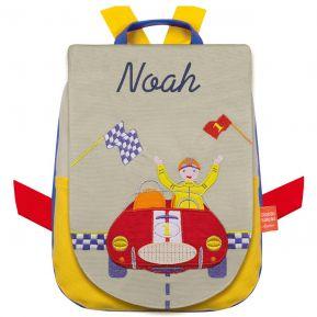 Mochila carrito de carreras personalizada