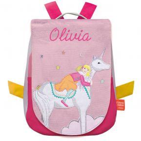 Mochila unicornio fantástico personalizada