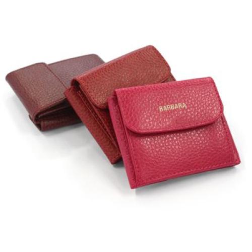 mondero con billetera en cuero personalizado nombre