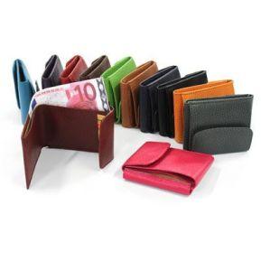 Billetera con monedero en cuero personalizada
