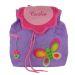 Mochila mariposa violeta personalizada