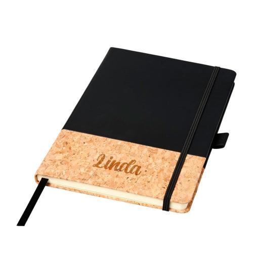 Cuaderno A5 de corcho con nombre grabado