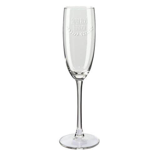 Copas de champaña papá y súper mamá