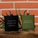 Petaca verde personalizada