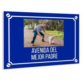 Placa de calle personalizada con una foto