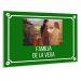 Placa de calle con foto verde