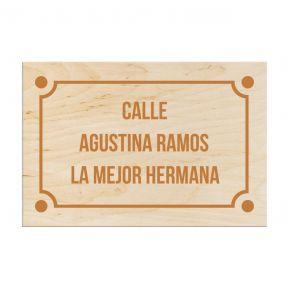 Placa de calle personalizada de madera