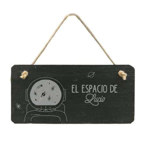 Placa de pizarra para habitación de niños
