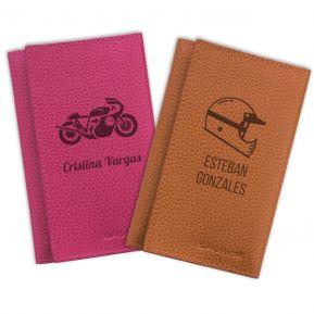 Porta-documentos en cuero para la moto personalizado