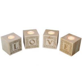 Portavelas cubo de letras