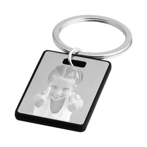 Llavero rectangular con foto grabada